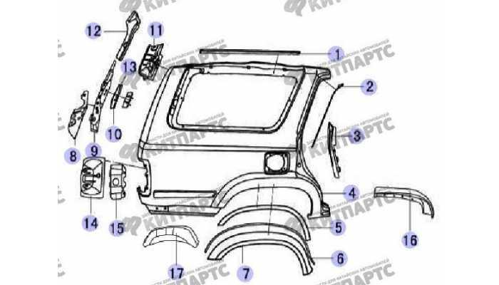 Панель наружная задняя с окном Great Wall Safe (SUV G5)