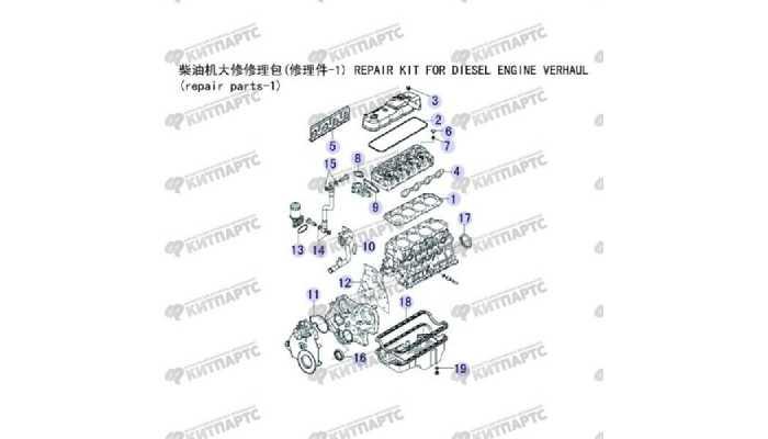 Прокладки двигателя Great Wall Wingle