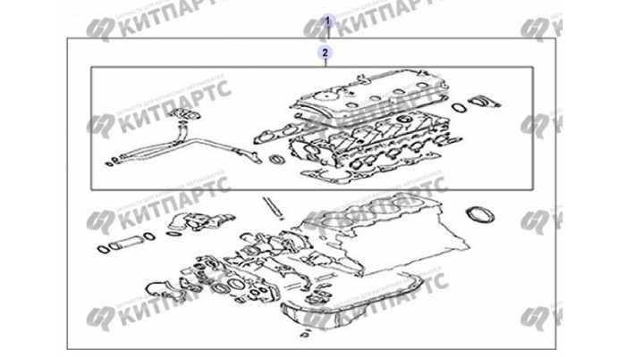 Комплект прокладок и РТИ двигателя Great Wall Hover