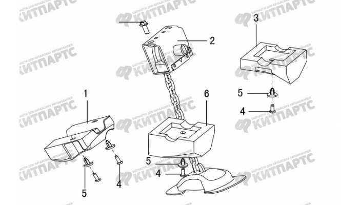 Лифт запасного колеса Great Wall Hover H3 New