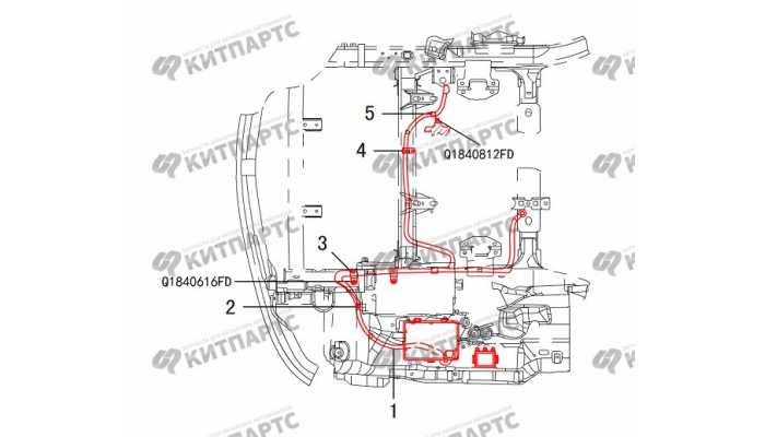 Жгут проводов аккумулятора Great Wall Hover H3 New
